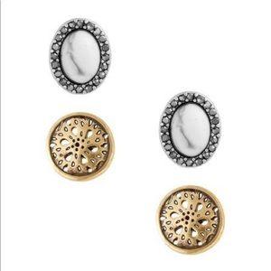 Lucky Brand Openwork and Oval Stud Earrings ✨💖